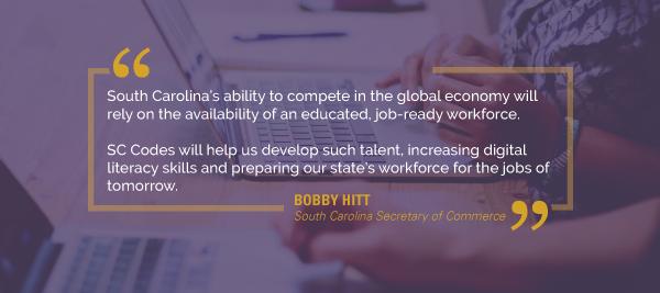 South Carolina Commerce Secretary Bobby Hitt quote about SC Codes