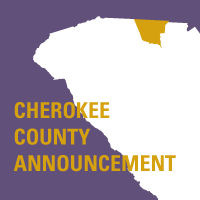 Cherokee County Announcement: Palmetto Pedic