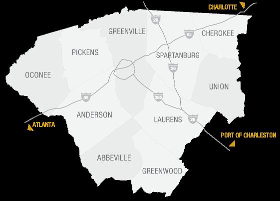 Upstate SC Map